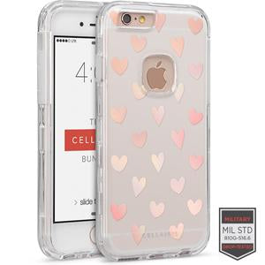 IPHONE 6/ 6S - RAPTURE CLEAR HEART POLKA GLOW 81-0010129 - Accesorios y repuestos Celular Cellairis