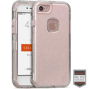 IPHONE 7/8 - RAPTURE CLEAR SILVER GLITTER/PINK 81-0040066 - Accesorios y repuestos Celular Cellairis