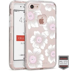 IPHONE 7/8 - RAPTURE CLEAR FLORAL CAMELLIA WITH CRYSTALS - Accesorios y repuestos Celular Cellairis