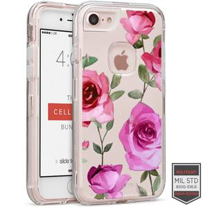 IPHONE 7/8 - RAPTURE CLEAR FLORAL ROSE 1 81-0040099 - Accesorios y repuestos Celular Cellairis
