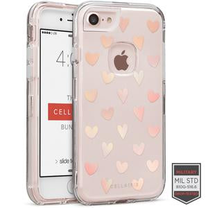 IPHONE 7/8 - RAPTURE CLEAR HEART POLKA GLOW 81-0040106 - Accesorios y repuestos Celular Cellairis