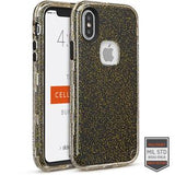 IPHONE X/XS - RAPTURE CLEAR GOLD GLITTER/BLACK 81-0060024 - Accesorios y repuestos Celular Cellairis