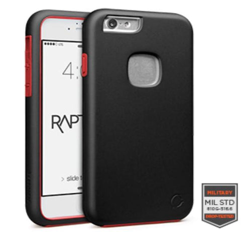 IPHONE 6/6S - RAPTURE BLACK/RED MATTE FINISH 81-0010087 - Accesorios y repuestos Celular Cellairis