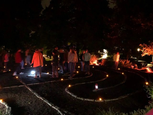 Full Moon Walk at Michener Museum Labyrinth
