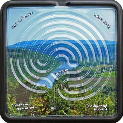 "7 Circuit Finger Labyrinth. Includes 3 Scenes, 10""x10"".  Holiday Special:  Additional FREE-PHOTO with each Labyrinth purchase AND FREE Shipping in U.S. on orders over $80.00"
