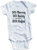 Adorable Baby Tee Time Babies 50% Mommy 50% Daddy 100% Perfect Baby clothes