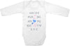 #2 Alphabet set cute funny baby clothes one piece bodysuit romper creeper infant clothing