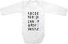 Alphabet ABC I love you cute funny baby clothes bodysuit one piece romper creeper infant clothing