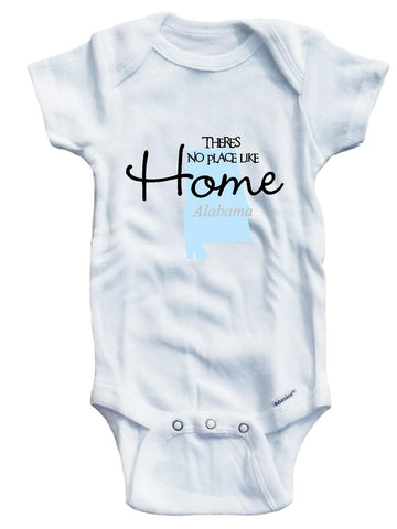 Baby boys' There's no place like home States A-M background shirt