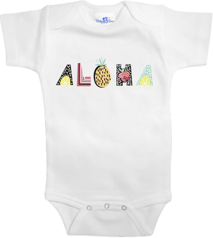 Adorable Baby Tee Time Aloha popular Baby one piece