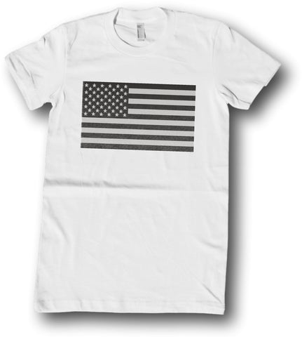 Mens American Apparel American Subdued Flag United States tee shirt clothes clothing