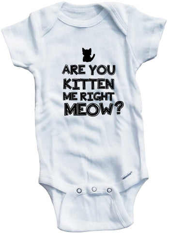 Adorable Baby Tee Time Are You Kitten Me Right Meow Baby clothes