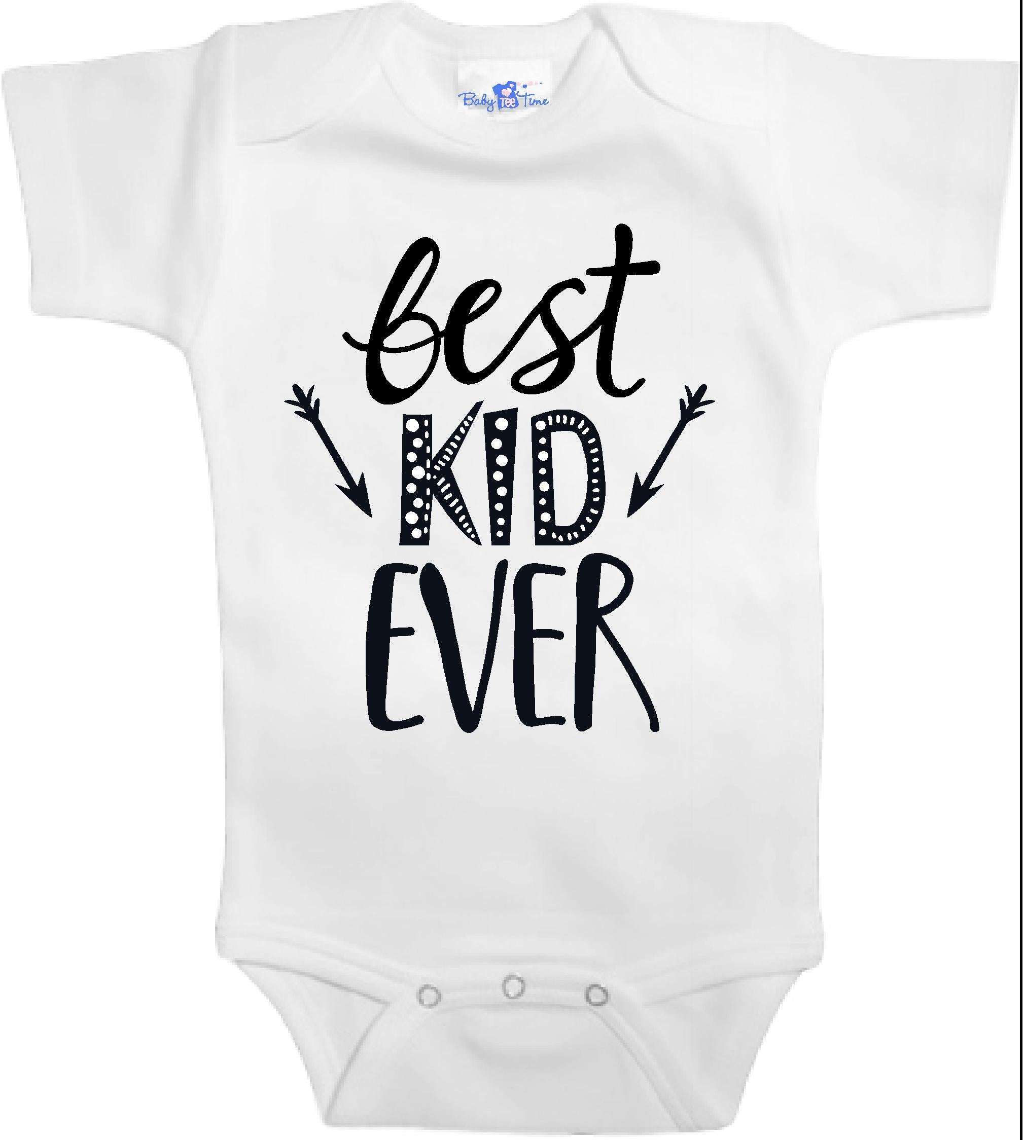 Adorable Baby Tee Time Best kid ever popular Baby clothes