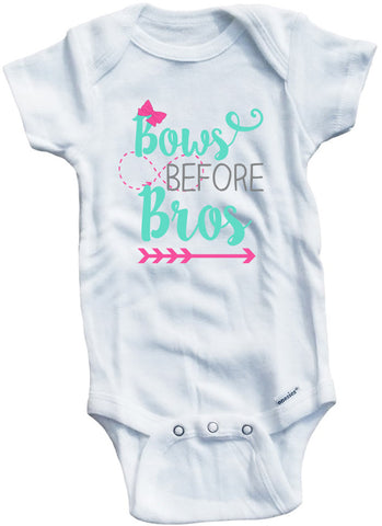Adorable Baby Tee Time Bows Before Brows Baby clothes