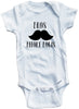 "Adorable Baby Tee Time ""Bros Before Bows"" Baby clothes"