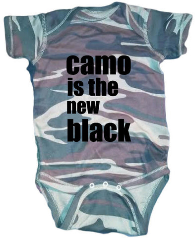 Camo is the new black cute infant clothing funny baby clothes bodysuit one piece romper creeper