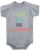 "Adorable Funny Baby Tee Time ""Chubby, Bald And Unemployed."" Onesie"