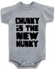 "Adorable Baby Tee Time ""Chunky Is The New Hunky"" Baby clothes"