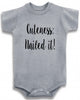"Adorable Funny Baby Tee Time ""Cuteness: Nailed it"" Onesie"