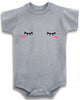 Adorable Baby Tee Time Cute Sleepy Blush Face Baby clothes