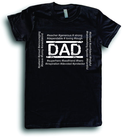 Mens American Apparel Dad hashtags cute funny tee shirt clothes clothing