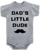 "Adorable Funny Baby Tee Time ""Dad's Little Dude"" Onesie"