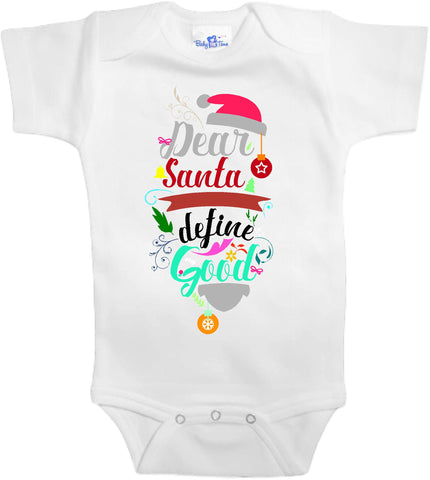 Adorable Baby Tee Time Dear Santa define good popular Baby one piece