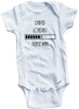 "Funny Adorable Baby Tee Time ""Diaper Loading Please Wait"" Onesie"