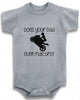Does your dad even ride bro? Sportbike wheelie style cute infant clothing