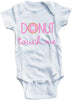 Donut touch me cute infant clothing funny baby clothes one piece bodysuit romper creeper