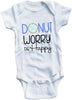 Donut worry be happy cute infant clothing funny baby clothes one piece bodysuit romper creeper