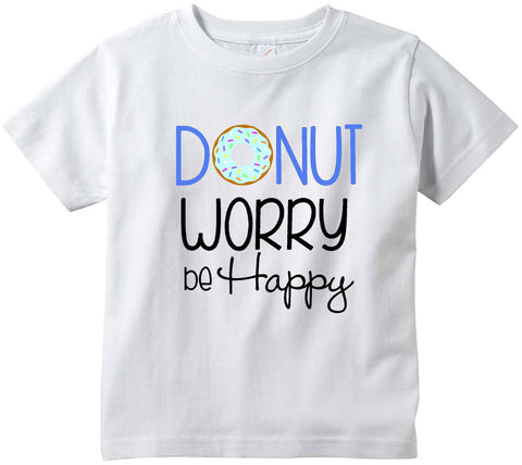 Baby boys Donut worry be happy funny baby clothes tee shirt infant clothing