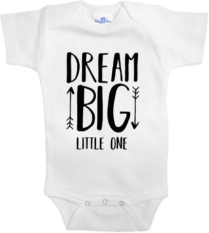 Adorable Baby Tee Time Dream big little one popular Baby clothes