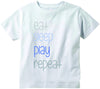 Eat sleep repeat cute infant clothing funny baby clothes tee shirt