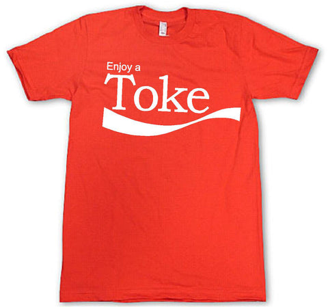 Mens American Apparel Enjoy a toke funny tee shirt clothes clothing