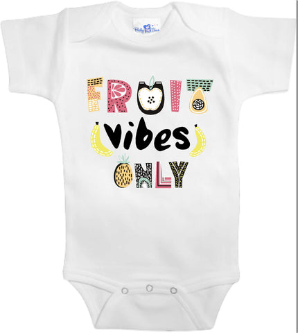 Adorable Baby Tee Time Fruit vibes only popular Baby one piece