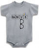 Genius cute infant clothing funny baby clothes bodysuit one piece romper creeper
