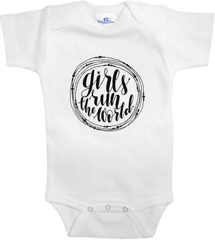 Adorable Baby Tee Time Girls run the world popular Baby one piece