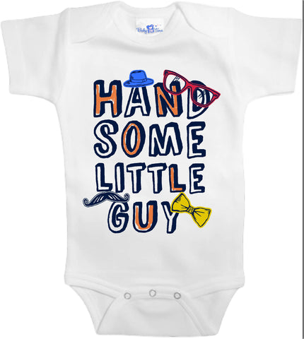 Adorable Baby Tee Time Handsome little guy popular Baby clothes