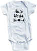 "Adorable Baby Tee Time ""Hello World"" Onesie"
