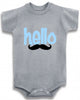 Hello with mustache cute infant clothing funny baby clothes bodysuit one piece romper creeper