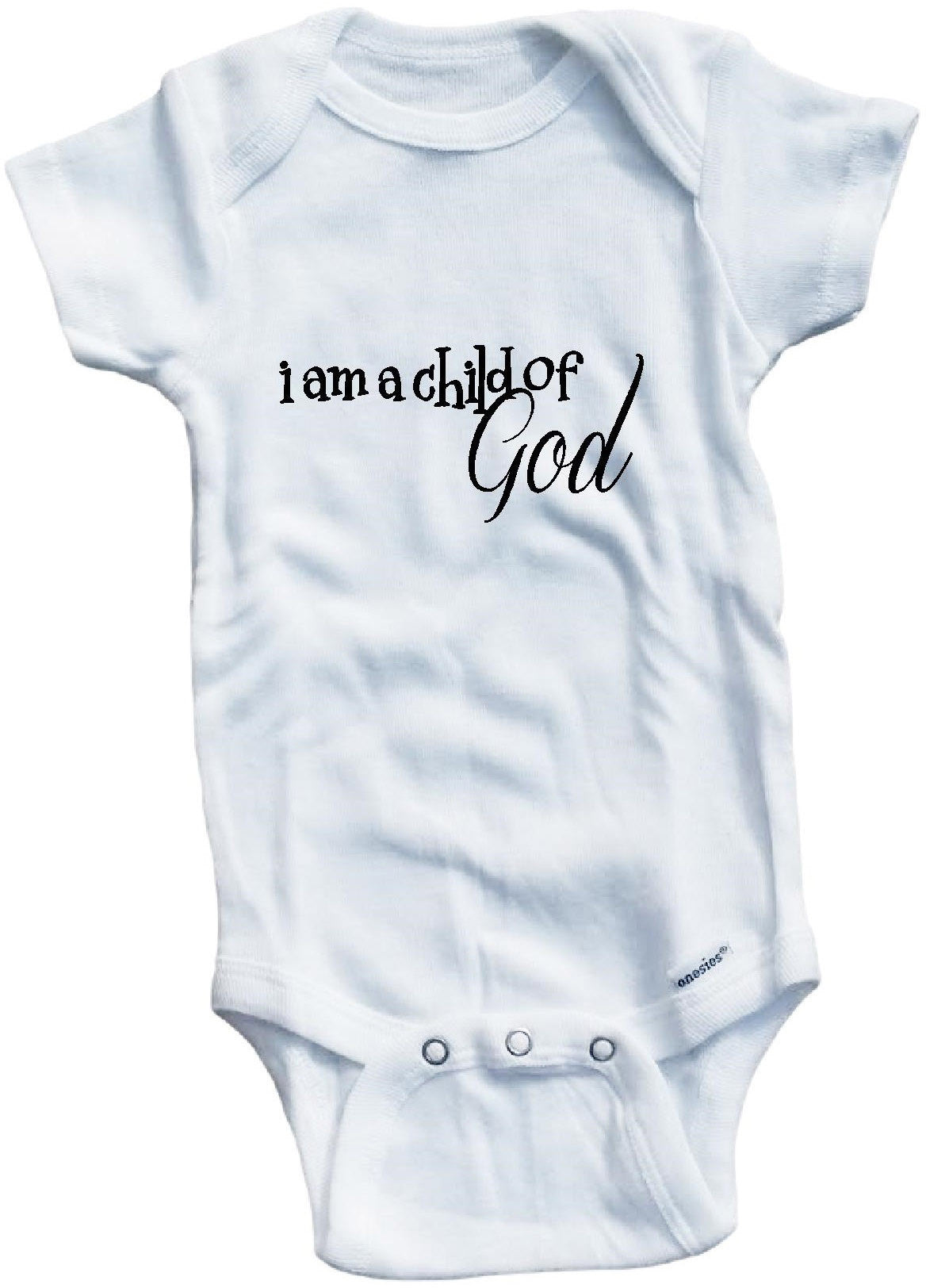 7974be732409 I am a child of God religious cute infant clothing funny baby ...