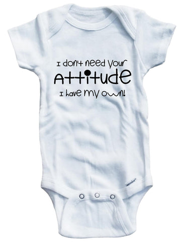 Adorable Baby Tee Time babies I don't need your attitude I have my own Baby clothes