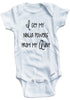 "Funny Adorable Baby Tee Time ""I Get My Ninja Powers From My Aunt"" Baby Onesie"