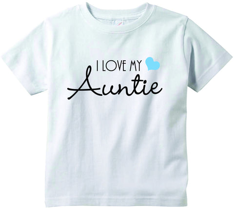Baby boys I love my Auntie cute funny baby clothes tee shirt infant clothing