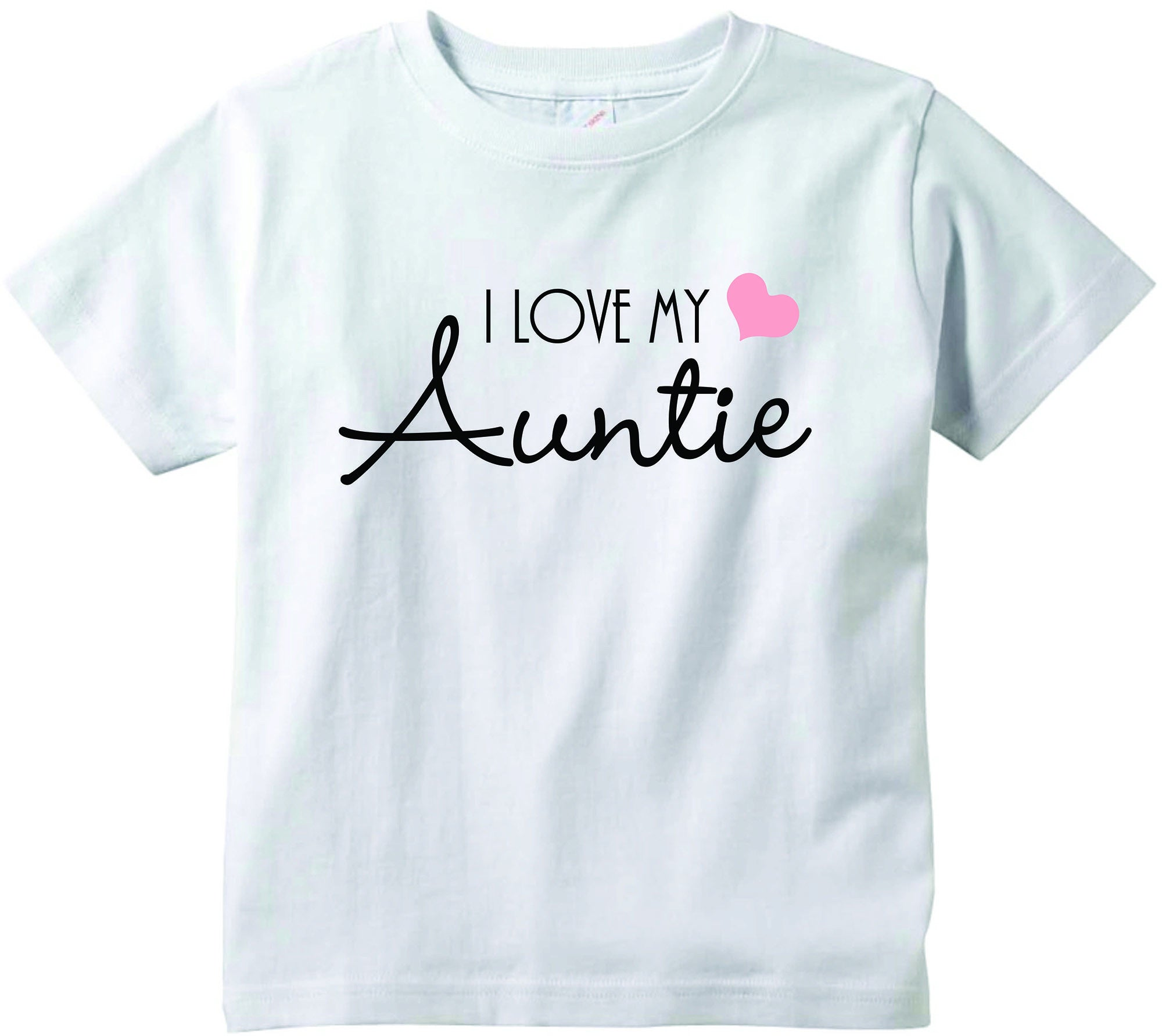Baby girls I love my Auntie cute infant clothing funny baby clothes