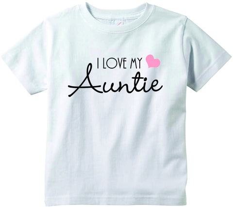 Baby girls I love my Auntie cute infant clothing funny baby clothes tee shirt
