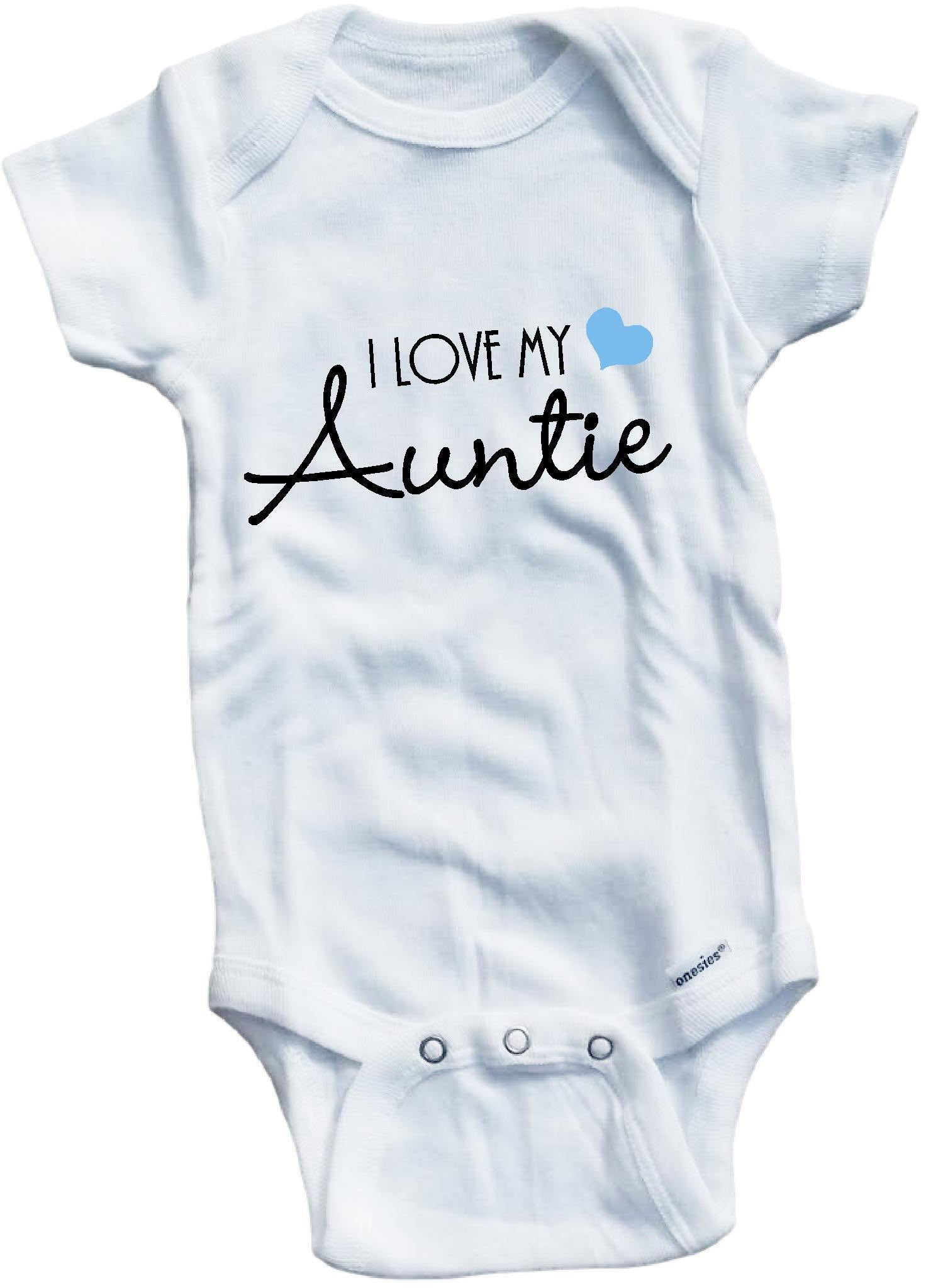 60da42227da4 I love my Auntie cute infant clothing funny baby clothes one piece ...