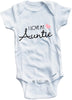 I love my Auntie cute infant clothing funny baby clothes one piece bodysuit romper creeper