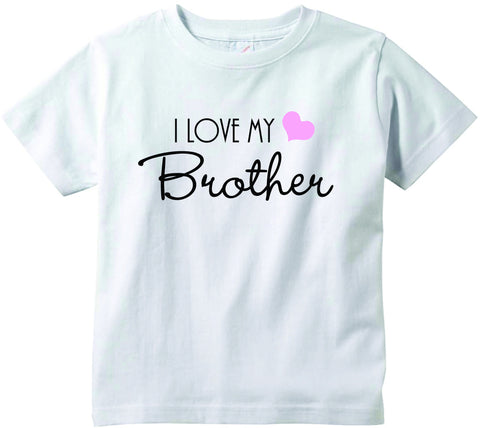 Baby girls I love my Brother cute infant clothing funny baby clothes tee shirt